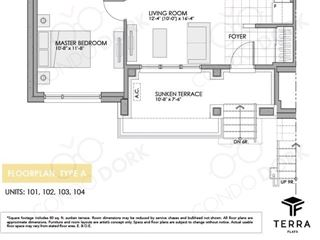Fernbank Crossing Terra Flats - floor plan 1